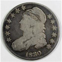 1830 CAPPED BUST HALF DOLLAR VG