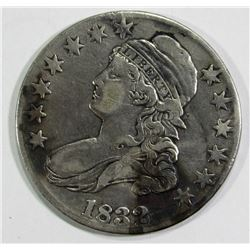 1832 CAPPED BUST HALF DOLLAR VF