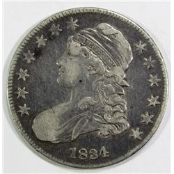 1834 CAPPED BUST HALF DOLLAR F/VF