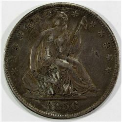 1856-O SEATED HALF DOLLAR VF/XF