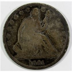 1861-O SEATED HALF DOLLAR FINE
