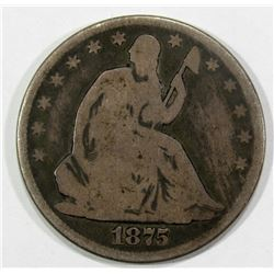 1875 SEATED HALF DOLLAR VG
