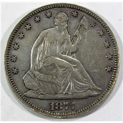1877 SEATED HALF DOLLAR VF/XF