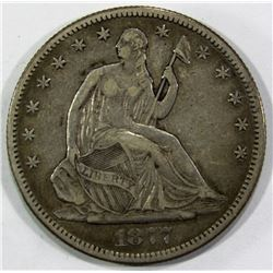 1877-S SEATED HALF DOLLAR VF