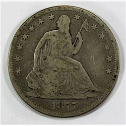 1877-CC SEATED HALF DOLLAR VG