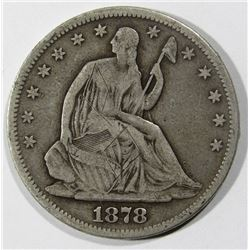 1878 SEATED HALF DOLLAR VG