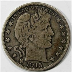 1915-D BARBER HALF DOLLAR FINE
