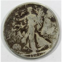 1921-D WALKING LIBERTY HALF AG