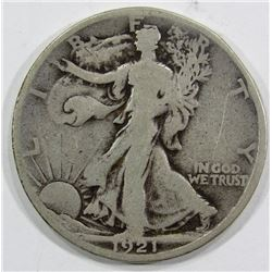 1921-S WALKING LIBERTY HALF VG