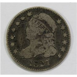 1827 CAPPED BUST DIME- VG/F