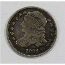 1834 CAPPED BUST DIME- FINE