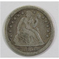 1850-O SEATED DIME- VF