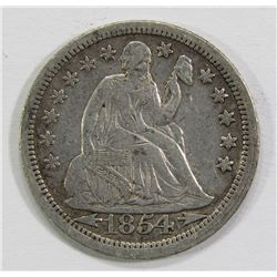 1854 SEATED DIME- VF