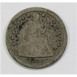 1859-O SEATED DIME- GOOD