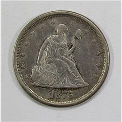 1875-S TWENTY CENT PIECE- XF