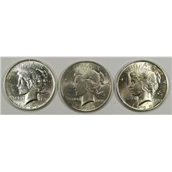 1923, 1924, 1925 PEACE DOLLARS CIRC OR BETTER