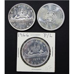 3-PROOF LIKE CANADA SILVER DOLLARS