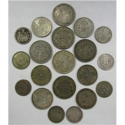 20- FOREIGN SILVER COINS