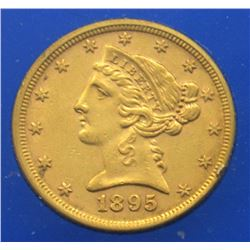 1895-P LIBERTY $5 GOLD HALF EAGLE