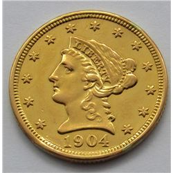 1904-P LIBERTY $2.5 GOLD QUARTER EAGLE