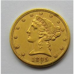 1895-S $5 GOLD LIBERTY HALF EAGLE