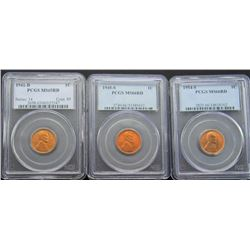 3- PCGS Wheat Cent Pennies