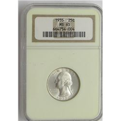 1935-P NGC MS65 Washington Quarter 25C