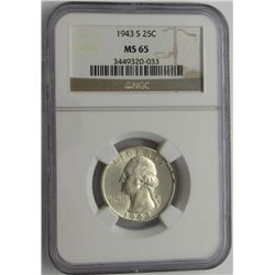 1943-S NGC MS65 Washington Quarter 25C