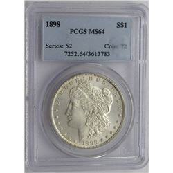 1898-P PCGS MS64 MORGAN DOLLAR