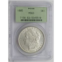 1885-P PCGS MS63 MORGAN SILVER DOLLAR