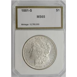 1881-S PCI MS65 MORGAN SILVER DOLLAR