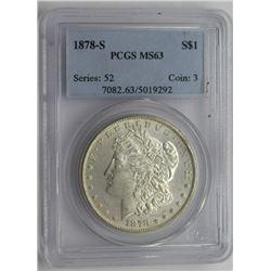 1878-S PCGS MS63 MORGAN SILVER DOLLAR