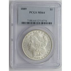 1889-P PCGS MS64 MORGAN SILVER DOLLAR