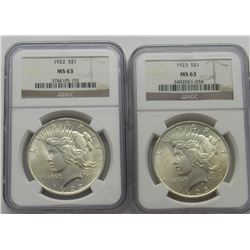 1934-D PEACE DOLLAR NPF CERTIFIED MS65