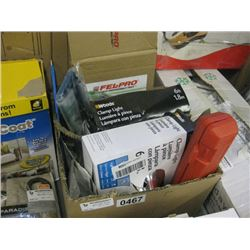BOX OF MISC HARDWARE ETC