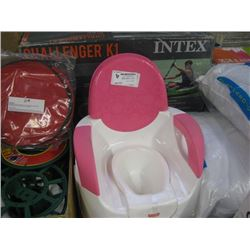 FISHER PRICE PINK POTTY CHAIR