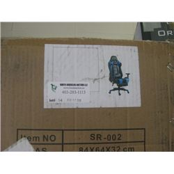 STORM RACER GAMING CHAIR BLUE AND BLACK