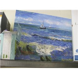 LARGE SAILING PAINTING ON CANVAS