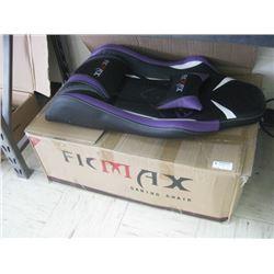 FICMAX GAMING CHAIR PURPLE WHITE BLACK