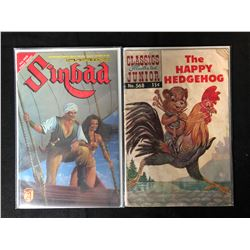 VINTAGE COMIC BOOK LOT (SINBAD/ THE HAPPY HEDGEHOG)