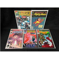 COMIC BOOK LOT (MIGHTY MOUSE/ SPITFIRE/ NEW MUTANTS...)