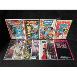 COMIC BOOK LOT (NEW TITANS/ JUSTICE LEAGUE/ SUPERMAN...)