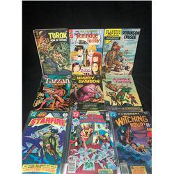 COMIC BOOK LOT (TUROK/ TARZAN/ STARFIRE...)