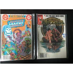 COMIC BOOK LOT (JLA/ TARZAN #1's)