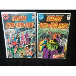SUPERBOY & THE LEGION OF SUPER HEROES COMIC BOOK LOT #256/ #257 (DC COMICS)