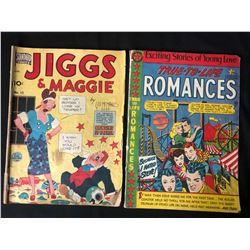 VINTAGE COMIC BOOK LOT (JIGGS & MAGGIE/ TRUE TO LIFE ROMANCES)