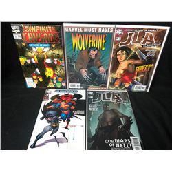 MARVEL/ DC COMIC BOOK LOT (WOLVERINE/ JLA...)