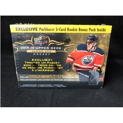 2018-19 Upper Deck Series 1 Hobby Exclusive Sealed 12 Pack Box Parkhurst BONUS