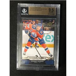 2015-16 UPPER DECK CONOR McDAVID COLLECTION #13 CONOR McDAVID (9.5 GEM MINT) BECKETT GRADE