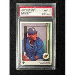 1989 UPPER DECK #13 GARY SHEFFIELD -STAR ROOKIE- (MINT 9) PSA GRADE